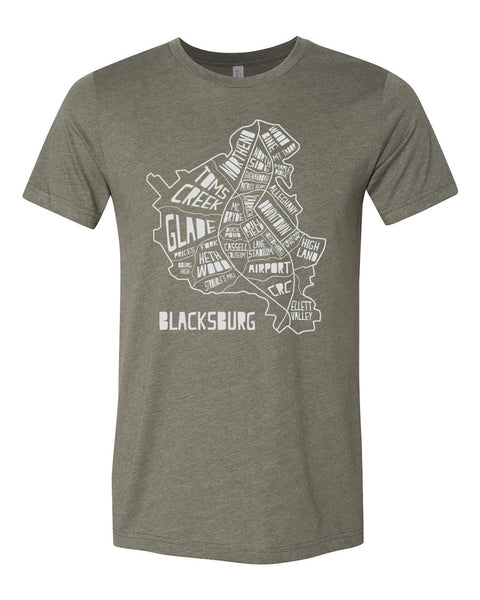 The burg hometown hoods tee - heather military green