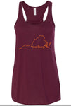 The Burg flowy tank - maroon