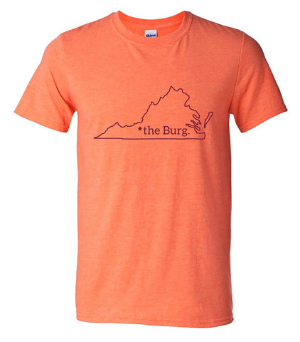 The Burg shirt - heather orange