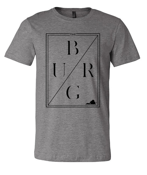 The burg jersey short sleeve tee- heather grey