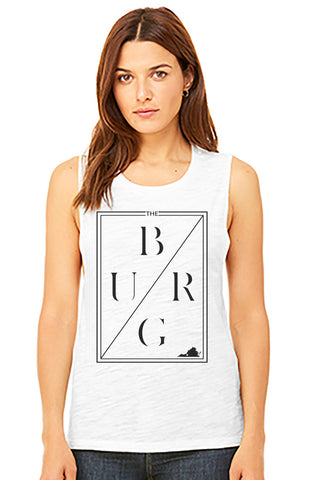 The burg flowy muscle tank