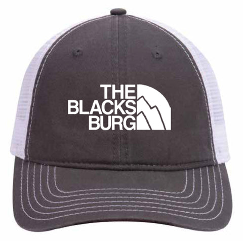 Blacksburg Mountains grey/white mesh back hat