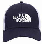 Blacksburg Mountains navy/white mesh back hat