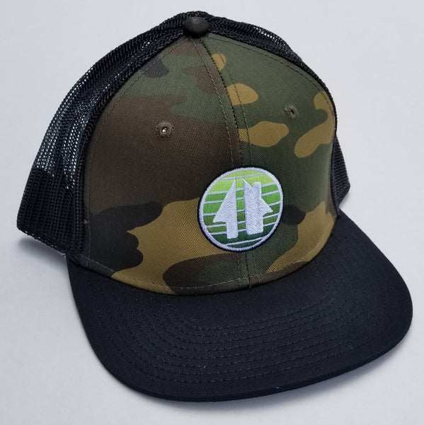 Faded House - camo mesh back