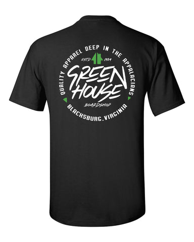 DEEP in the HILLS TEE - black colorway