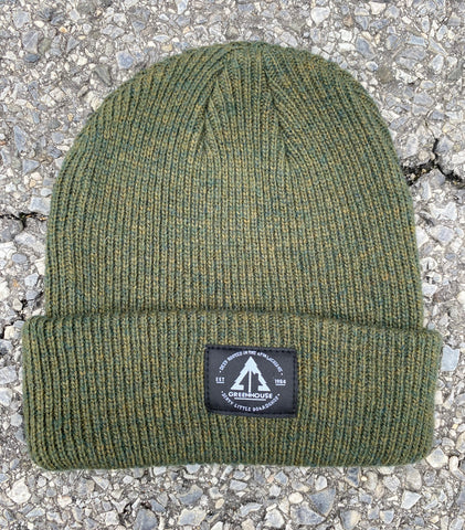 GH Merino wool beanie - Forest Green