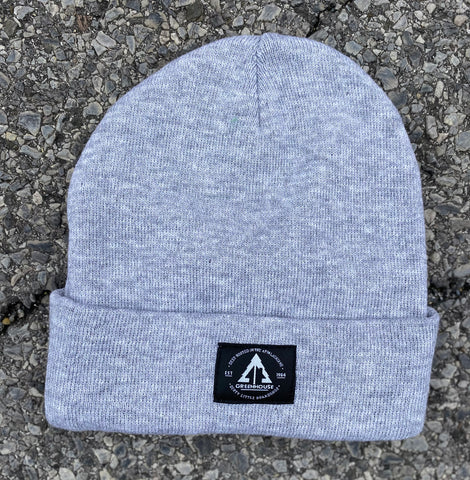 GH Acrylic rib-knit beanie - Light Grey