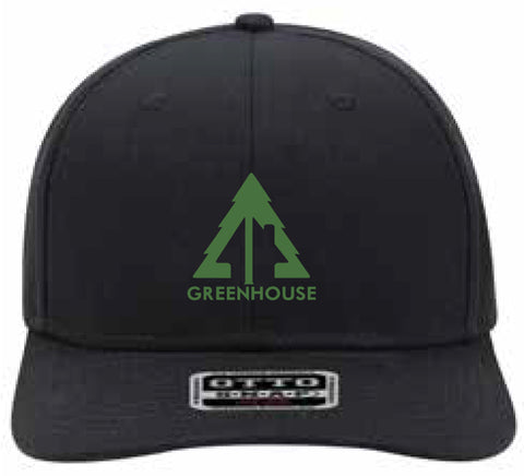 Greenhouse snapback hat - black