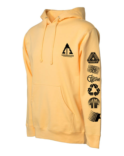 Greenhouse pullover hoodie - peach