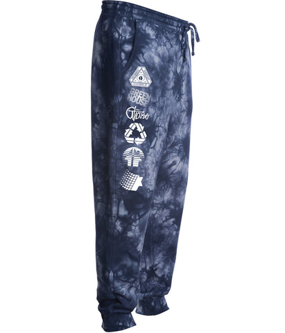Greenhouse Fleece pant - tiedye navy