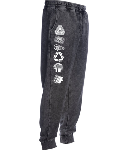 Greenhouse Fleece pant - mineral wash black