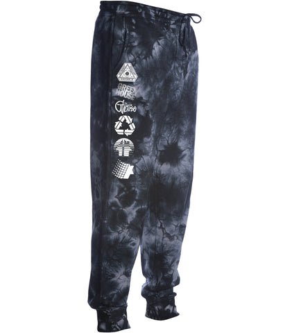 Greenhouse Fleece pant - tiedye black