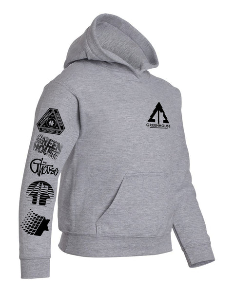 YOUTH Greenhouse pullover hoodie - charcoal grey heather