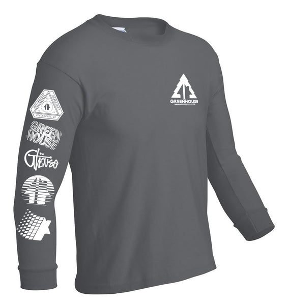YOUTH Greenhouse longsleeve tee - charcoal grey