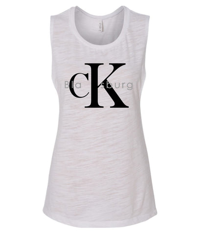 blaCKsburg flowy scoop neck tank
