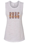Blacksburg Intertwined flowy muscle tank - white slub