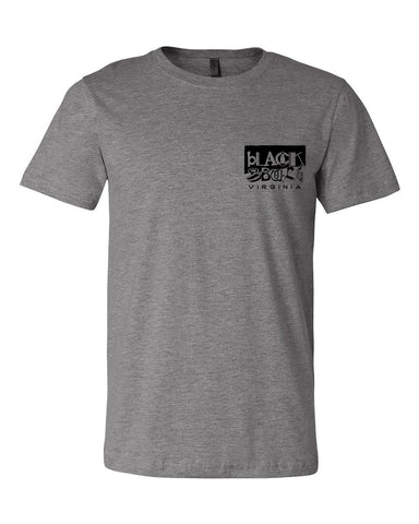 Downtown Staples tee - deep heather grey