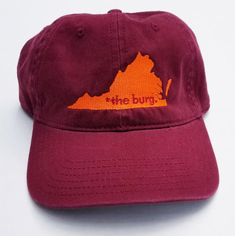 The burg hat - maroon