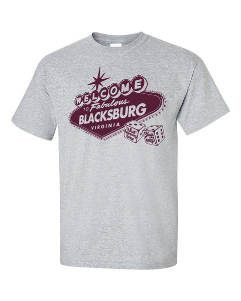Welcome to Blacksburg shirt- heather grey