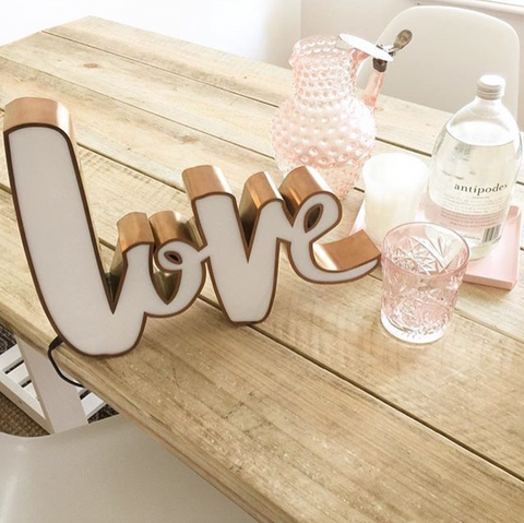 Love Type Light LED - CUSTOM MADE 4 week delivery