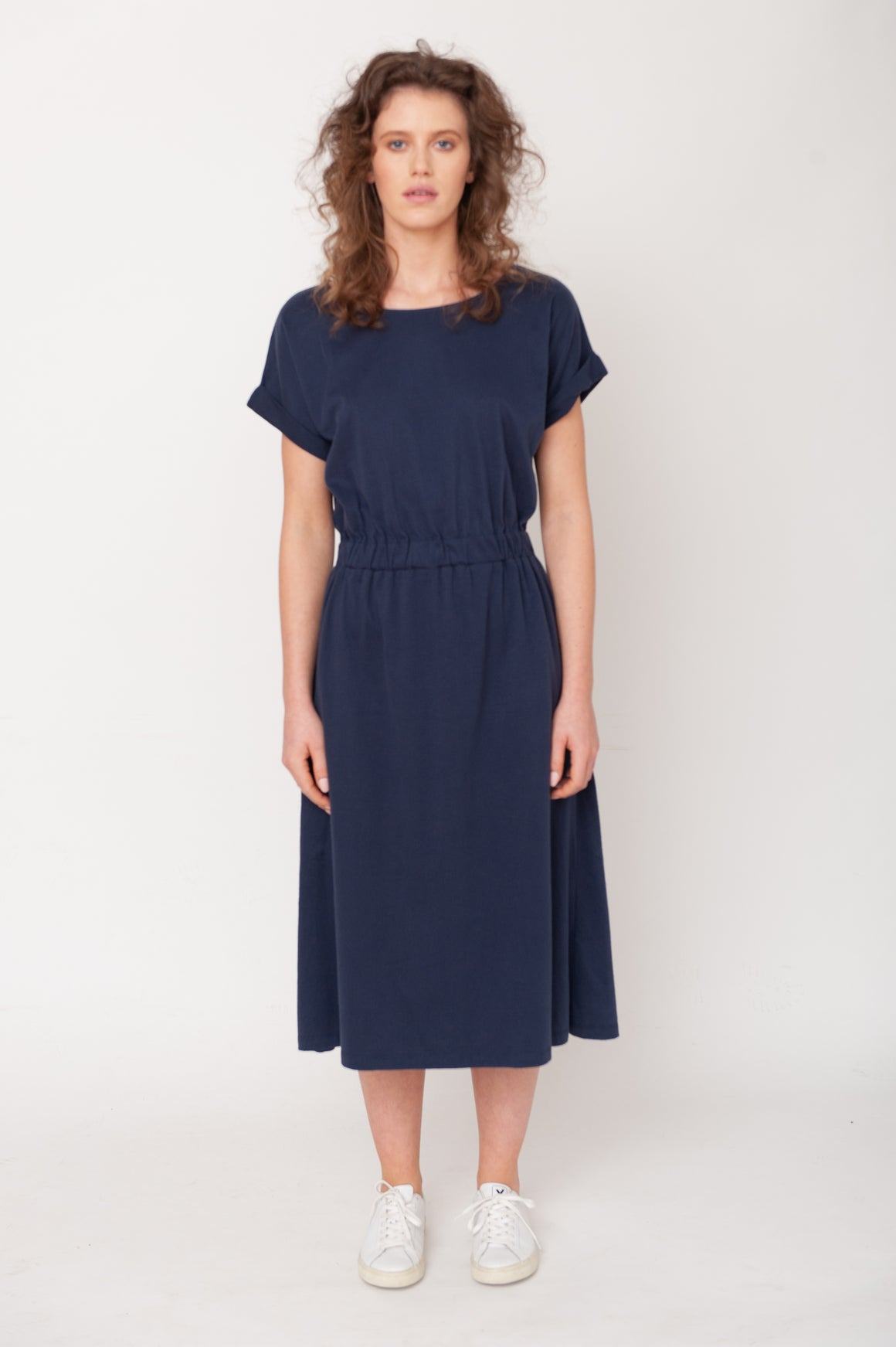 Marissa Organic Cotton Dress - Midnight