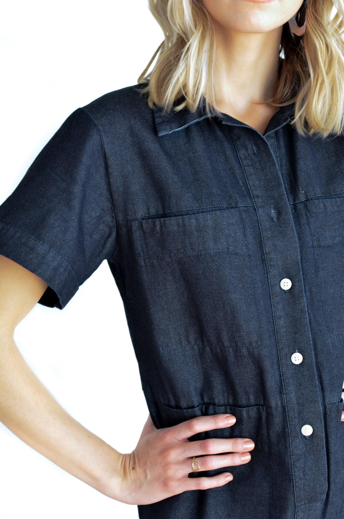 Tia Short Sleeve Coverall