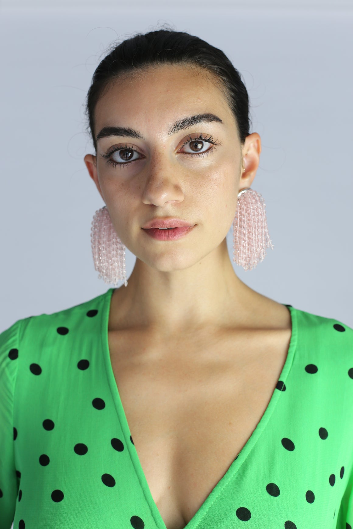 Arcadia Earrings - Clear Pink