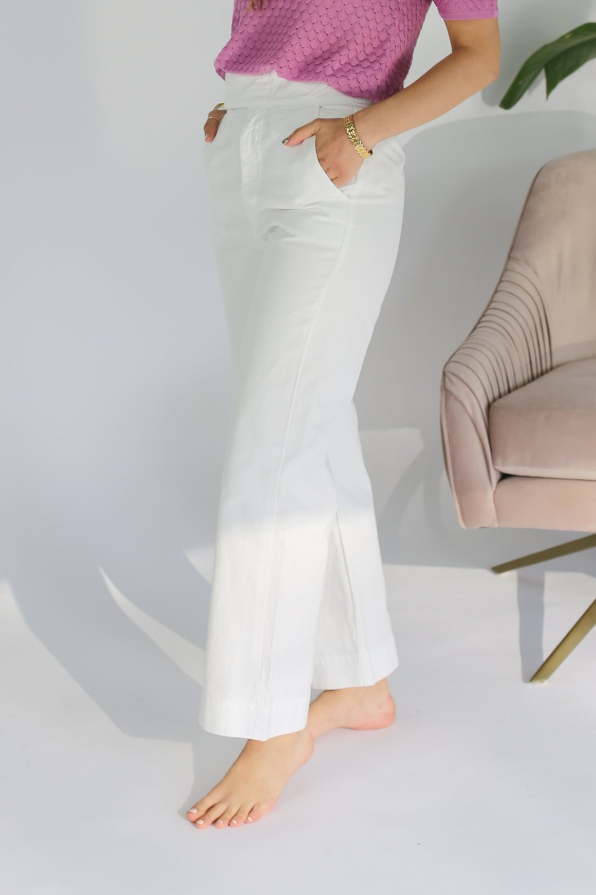 Uniform Trouser - Whitewash