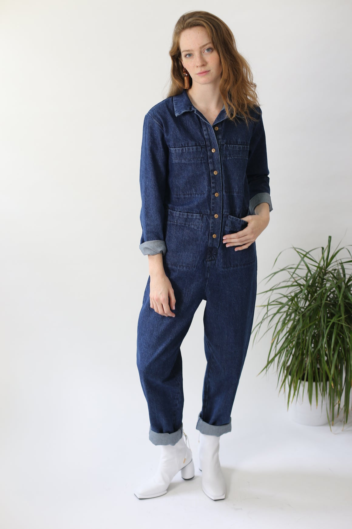 Tia Coverall - Denim
