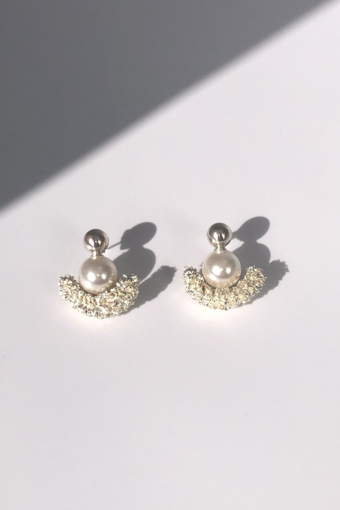 Sparkling Half Moon Earrings