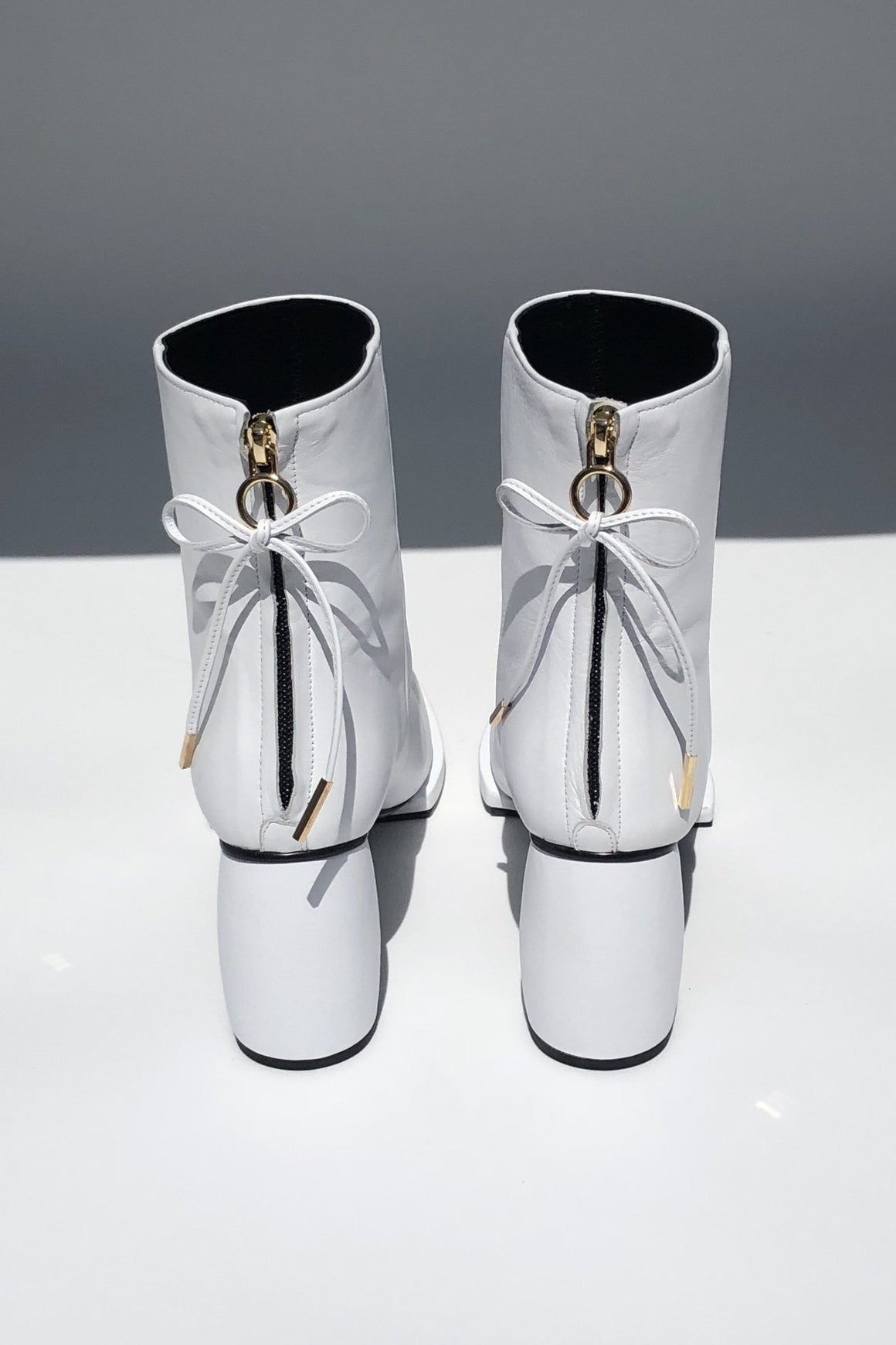 Square Ribbon Half Boots