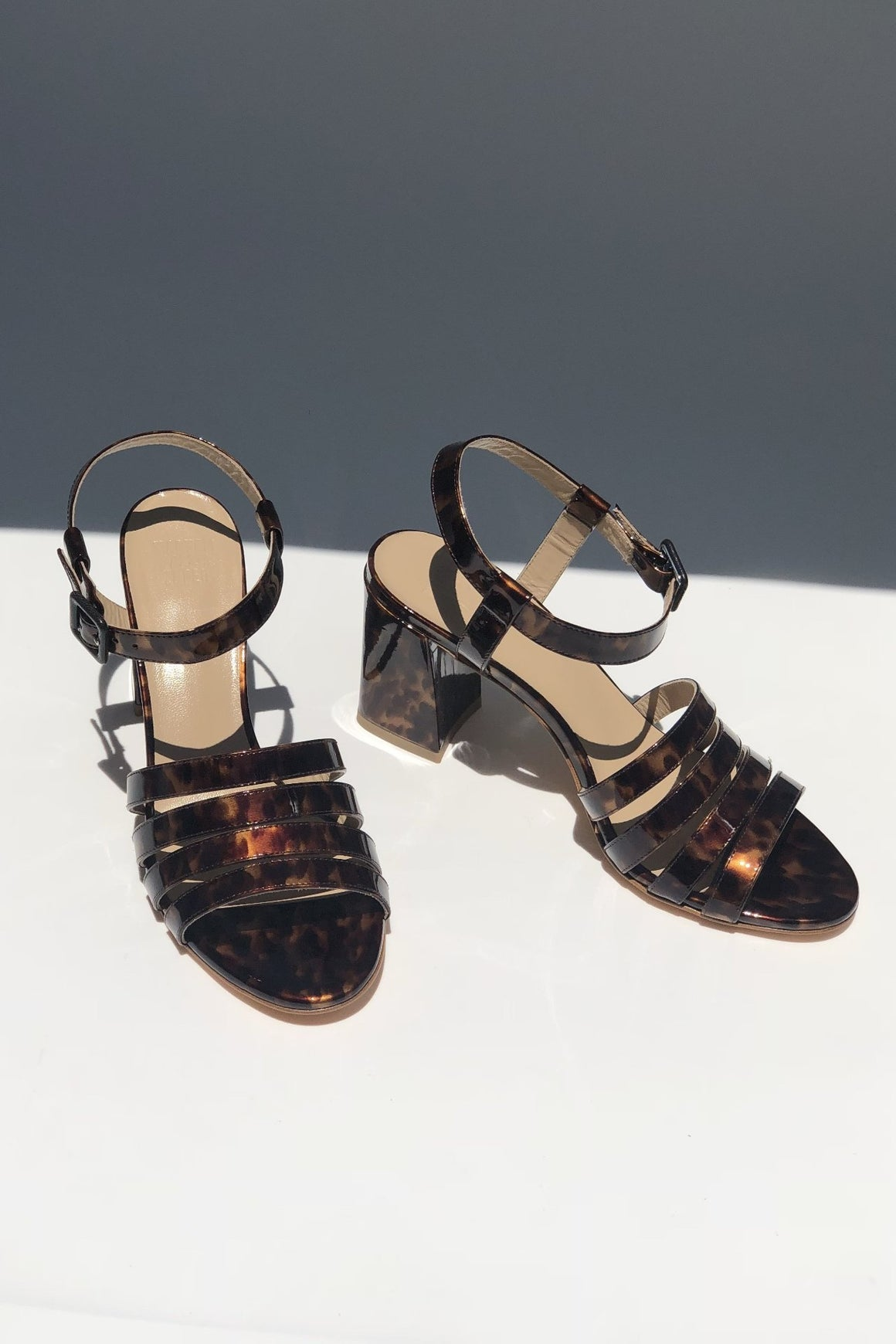Palma High Sandal - True Tortoise Patent