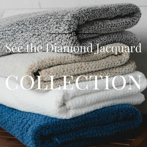 Towel and Towel Sets with Diamond Jacquard Collection