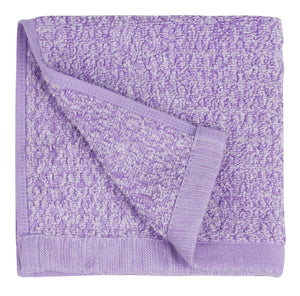 Diamond Jacquard Washcloths - 6 Pack, Lavender