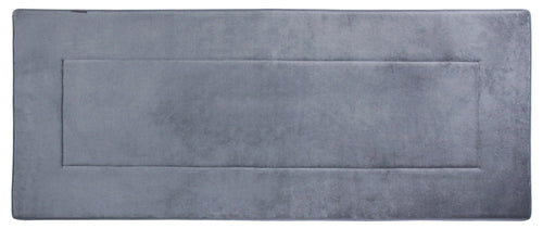 Memory Foam Solid Runner in Slate Grey, 2 x 6 ft