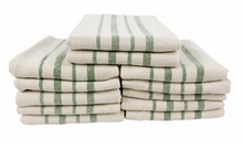 Recycled Cotton Kitchen Towels, Spruce, 12 Pack