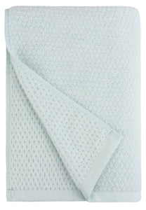 Diamond Jacquard Towels, Bath Sheet Towel - 1 Piece, Spearmint