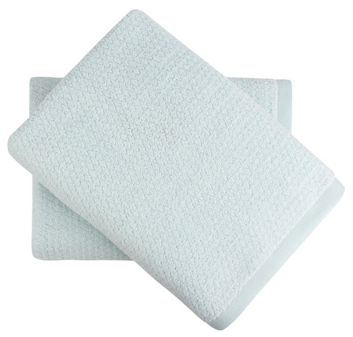 Diamond Jacquard Towels, Bath Sheet - 2 Pack, Spearmint