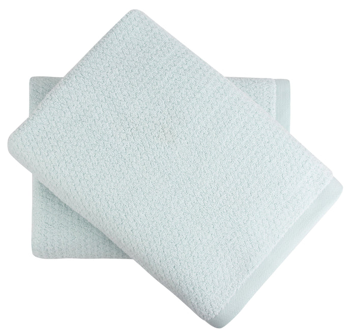 Diamond Jacquard Bath Sheet - 2 Pack, Spearmint