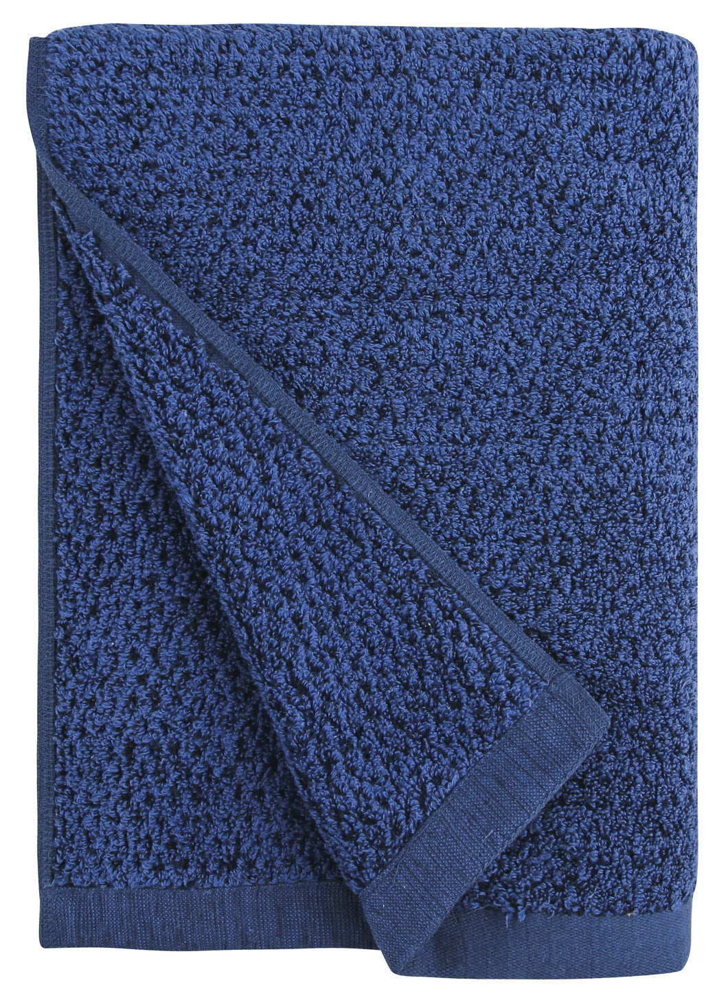 Diamond Jacquard Towels, Bath Towel - 1 Piece, Navy Blue