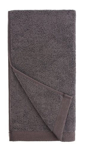 everplush flat loop hand towel charcoal