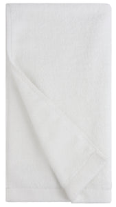Flat Loop Hand Towels - 4 Pack, Porcelain (White)