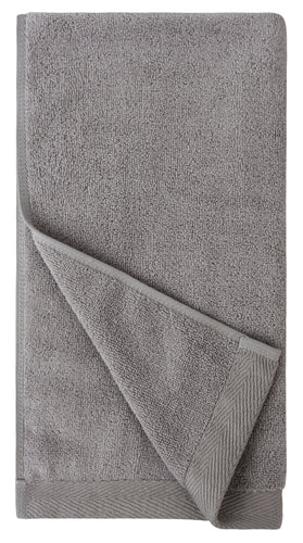 Flat Loop Hand Towels - 4 Pack, Ash (Light Grey)
