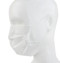 Disposable 3 Ply Face Mask in white, 50 PK (non-medical)