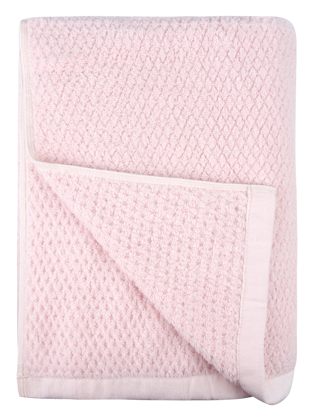 Diamond Jacquard Towels, Bath Sheet Towel - 1 Piece, Pale Pink