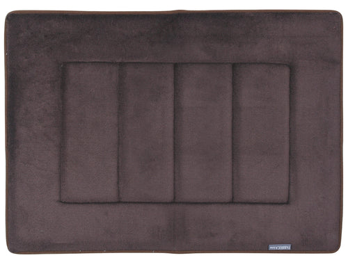 Memory Foam Bath Mat in Coffee Brown, 17 x 24 in