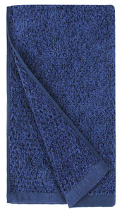 Diamond Jacquard Hand Towels - 4 Pack, Navy Blue