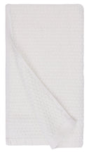 Diamond Jacquard Hand Towels - 4 Pack, White