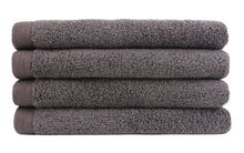 Flat Loop Hand Towels - 4 Pack, Charcoal