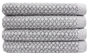 Chip Dye Diamond Jacquard Hand Towels - 4 Pack, Marble